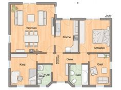 Musterhaus grundriss bungalow  Bungalow Trio von Kern-Haus | Integrierte Doppelgarage | Bungalow ...