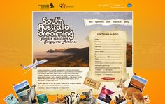 Promotional Website to South Australia and Singapore Airlines.