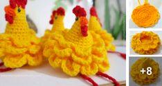 Ready to weave a beautiful crochet hen step by step, . Easter Crochet, Diy Crochet, Vintage Crochet, Crochet Toys, Afghan Crochet Patterns, Amigurumi Patterns, Amigurumi Free, Amigurumi For Beginners, Chicken Pattern
