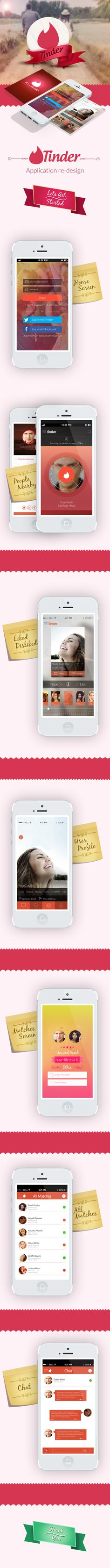 Tinder iOS and Android Concept Design