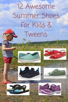 12 top summer sneakers, sandals and watershoes for preschoolers, kids and tweens. They offer comfort, durability and value. New Travel, Travel With Kids, Family Travel, Travel Tips, Travel Books, Summer Travel, Travel Essentials, Travel Ideas, Summer Sneakers