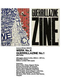 WERK magazine No.X  Guerrillazine No.1