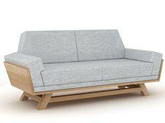 Upholstered 2 seater fabric sofa CASPAR by Universo Positivo | design David Schäfer