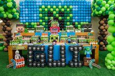 Dessert Table from a Minecraft Birthday Party via Kara's Party Ideas KarasPartyIdeas.com (26)