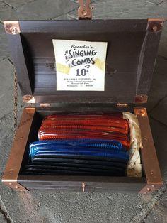 Vintage Store Display Buesher's Singing Combs