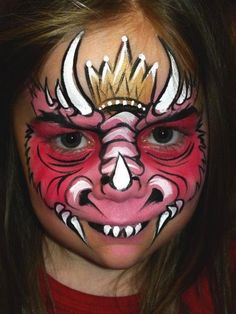 Dragon Face | Art teacher- face painting | Pinterest
