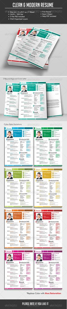 Clean Modern Resume V10 Fonts-logos-icons Pinterest Modern - how to make resume stand out