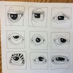Deb Weiers - Eye Study This style meshed with Tessa Perlow's style? Ornate beads is what I'm thinking Art Inspo, Kunst Inspo, Inspiration Art, Art Sketches, Art Drawings, Abstract Drawings, Art Du Croquis, Typographie Inspiration, Arte Sketchbook