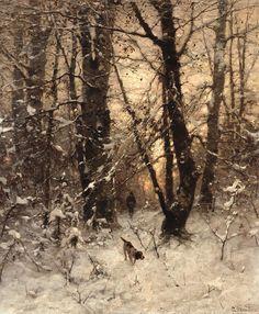 Le Prince Lointain: Ludvig Munthe (1841-1896), Crépuscule Hivernal - 1...
