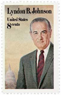 1973 8c Lyndon B Johnson Scott 1503 Mint F/VF NH