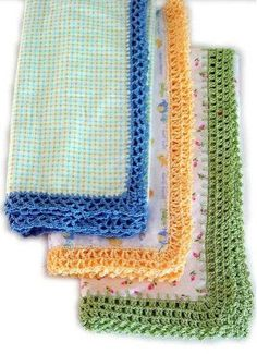 Maggie's Crochet · Receiving Blanket Eyelet Edging Crochet Pattern