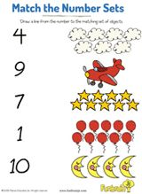 Match the Numbers in the Sky -- An #earlylearning worksheet that develops number recognition and counting skills. #math #prek  Free.