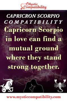 Capricorn Scorpio in love can find a mutual ground where they stand strong together. #Capricorn #Scorpio #Relationship #Compatibility #Capricorn_Scorpio #Relationship_Compatibility #CapricornScorpio #RelationshipCompatibility #Zodiac_Signs