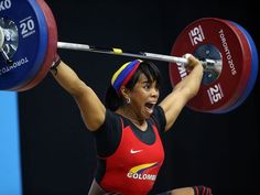 Leidy Solis Arboleda of Colombia's lift that sets the