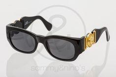 Image of Gianni Versace Mod.413/A black gold ::: Vintage Sunglasses