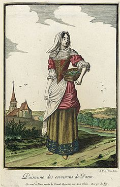 1678 Peasant woman from Paris 17th Century Fashion, 17th Century Art, Historical Costume, Historical Clothing, Antique Clothing, Baroque Fashion, Vintage Fashion, Ludwig Xiv, Christian Marclay