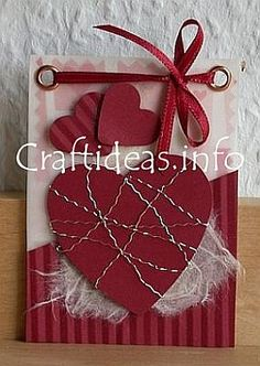 Artist Trading Card. ATC; #ATC #card / like the wrapped heart