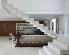 escada em marmore branco - marmogless