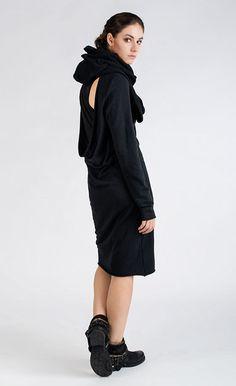 ALAGOYA - Black knee-length jersey dress