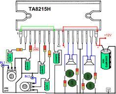 amplificador TA8215H TA8215L                                                                                                                                                                                 Más