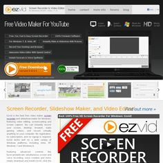 Ezvid is the best free video maker, screen recorder and slideshow maker for Windows, featuring video editing, screencasting and screen capture. You can instantly record your screen, desktop, browser, make gaming videos, and record virtually anything on your computer. No registration, no subscription, and no signup is required.