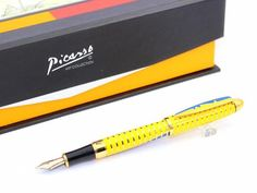yellow picasso pen with 10k gold tip
