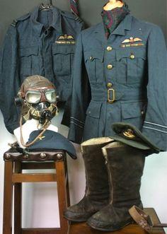 Rare Named Spitfire Pilot Uniform Group.