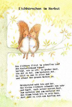 Eichhörnchen Im Herbst #oktober #kindergarten #gedicht #reim #kita  #erzieherin #