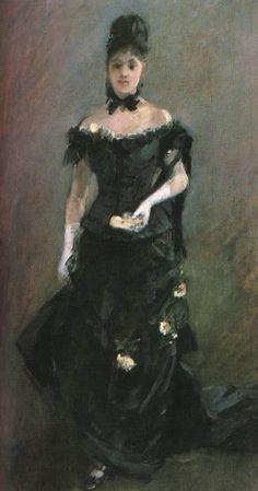 Before the Theatre     Berthe Morisot -      c.1875  ............#GT