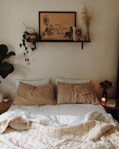 - A mix of mid-century modern, bohemian, and industrial interior style. Home and apartment decor, Decoration Bedroom, Home Decor Bedroom, Design Bedroom, Bedroom Ideas, Master Bedroom, Master Suite, Home Decoration, Girls Bedroom, Bedroom Setup