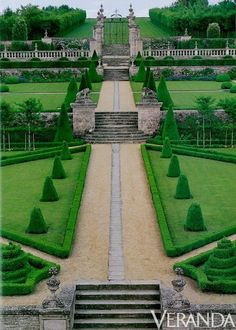 Chateau de Brecy France Include this on your trip to Giveney Actually not huge this is the view from the front carriage court rear view is of the landscape and fields bey. Formal Garden Design, English Garden Design, Formal Gardens, Outdoor Gardens, Modern Gardens, Japanese Gardens, Amazing Gardens, Beautiful Gardens, Landscape Architecture