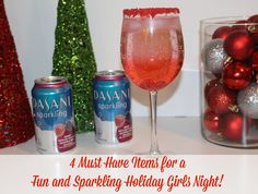 4 Must Have Items for a Fun and Sparkling Holiday Girls Night ~ Plus a Dirty Shirley Cocktail Recipe!   #SparklingHolidays #Sponsored @dasaniwater  @walmart
