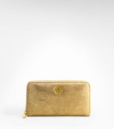 Tory Burch Metallic Snake Zip Continental Wallet...yes, but maybe silver, not gold