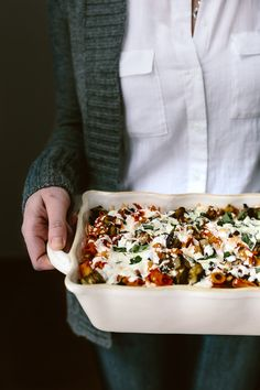 Baked Ziti with Roasted Eggplant and Basil: A vegetarian baked pasta recipe layered with roasted eggplant, homemade tomato basil sauce and ricotta cheese.