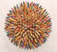 Colored Pencil Ball By Yakov Volkind