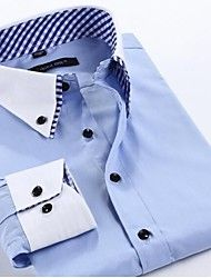 Men's Dress Shirts Turn-down Collar Cotton Large Size Men Shirt. New Brand Men's Fashion Casual Long-Sleeved Shirt Double Collar Shirt, High Collar Shirts, Long Sleeve Shirts, Cheap Mens Shirts, Mens Shirts Online, Gents Shirts, Boys Shirts, Best Mens Fashion, Men's Fashion