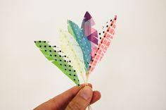 a bit of sunshine: washi tape feathers