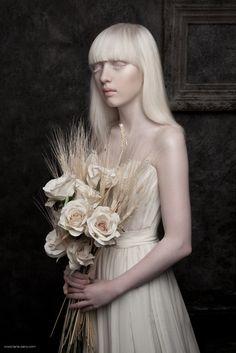 Albino girl #Innocence by Lénaïc Sanz