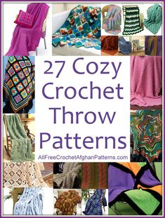 "Crocheters of all skill levels will love these free crochet throw patterns. Try something new, make a memorable gift, or create something to sit on your couch. It doesn't matter which project you make - just ""throw"" in some creativity and show your personality! You won't be able to stop with just one crochet throw pattern :)"