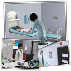 Maternity Hospital Room by Sandy - Sims 3 Downloads CC Caboodle