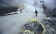 Foto do dia: vapor de vulcão na Rússia