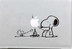 Snoopy Barbecue macbook decals macbook stickers macbook pro decal macbook air cover stickers for pro/air/ipad vinyl decal apple mac decal