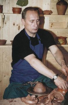 PUTIN VLADIMIR: ) President of Russia from Prime Minister of Russia & and a former intelligence officer with the KGB. An extremely rare signed and inscribed colour 4 x 6 postcard photograph of Putin seated in a thre Vladimir Putin Hot, Putin Funny, Ukraine, President Of Russia, Celebridades Fashion, Wladimir Putin, Photographer Portfolio, Great Leaders, King George