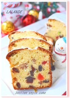 ケーキ❅シュトーレン Vanilla Cake, French Toast, Muffin, Baking, Breakfast, Desserts, Food, Meal, Morning Coffee