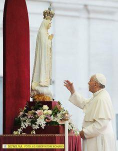 13 de Mayo Dia de la Virgen de Fátima. S.S. el Papa Francisco