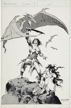 Conan production art tony de zuñiga