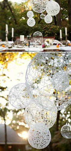 DIY Hochzeiten dekoideen weiß rund deko