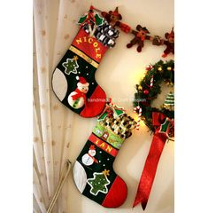 Create Heirloom Christmas Stockings - Get a free sewing tutorial and free patterns for a variety of three-dimensional decorations at CraftPassion.com