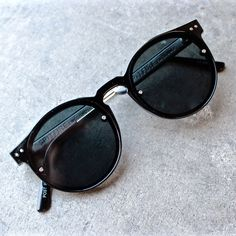 spitfire sunglasses post punk in black