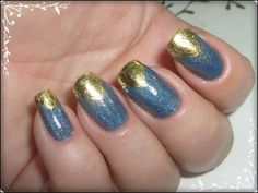 nail art gold